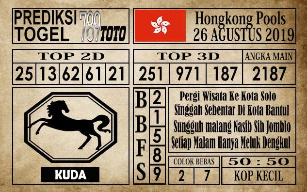 Prediksi Hongkong Pools 26 Agustus 2019