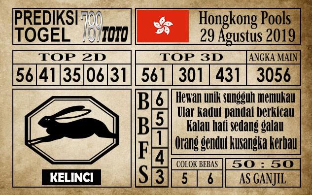 Prediksi Hongkong Pools 29 Agustus 2019