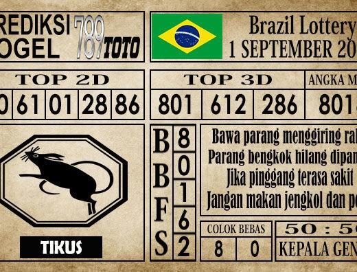 Prediksi Brazil Lottery 1 September 2019
