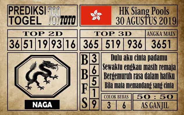 Prediksi Hongkong Siang 30 Agustus 2019