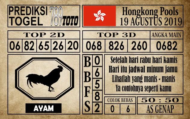 Prediksi Hongkong Pools 19 Agustus 2019