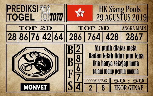 Prediksi Hongkong Siang 29 Agustus 2019