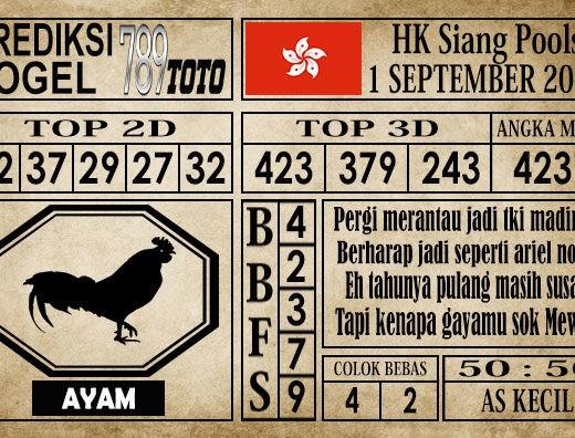 Prediksi Hongkong Siang 1 September 2019