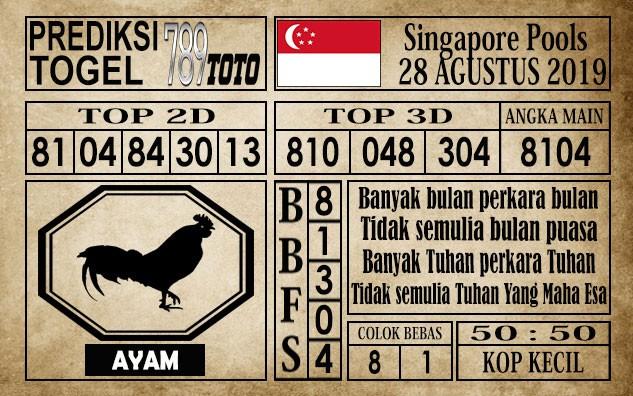 Prediksi Singapore Pools 28 Agustus 2019