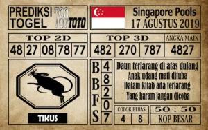 Prediksi Singapore Pools 17 Agustus 2019