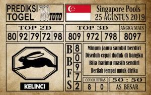 Prediksi Singapore Pools 25 Agustus 2019