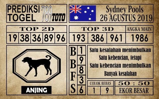 Prediksi Sydney Pools 26 Agustus 2019