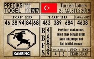 Prediksi Turkish Lottery 25 Agustus 2019