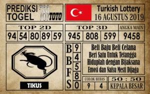 Prediksi Turkish Lottery 16 Agustus 2019