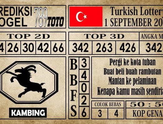 Prediksi Turkish Lottery 1 September 2019