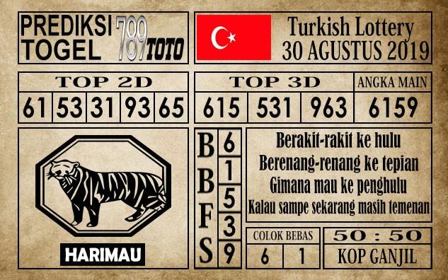Prediksi Turkish Lottery 30 Agustus 2019