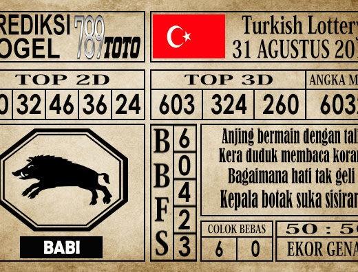 Prediksi Turkish Lottery 31 Agustus 2019
