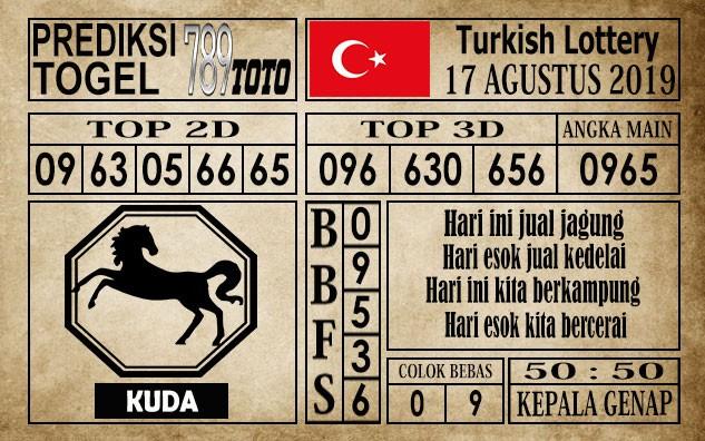 Prediksi Turkish Lottery 17 Agustus 2019