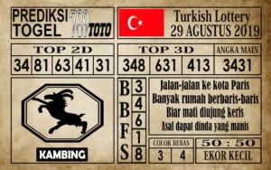 Prediksi Turkish Lottery 29 Agustus 2019