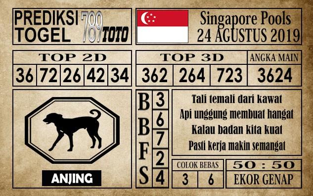 Prediksi Singapore Pools 24 Agustus 2019