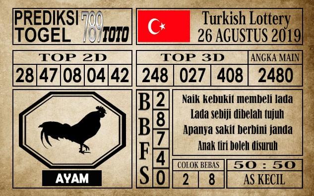 Prediksi Turkish Lottery 26 Agustus 2019