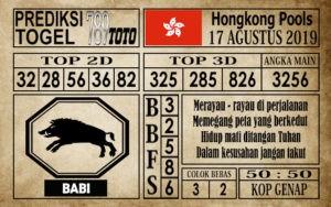Prediksi Hongkong Pools 17 Agustus 2019