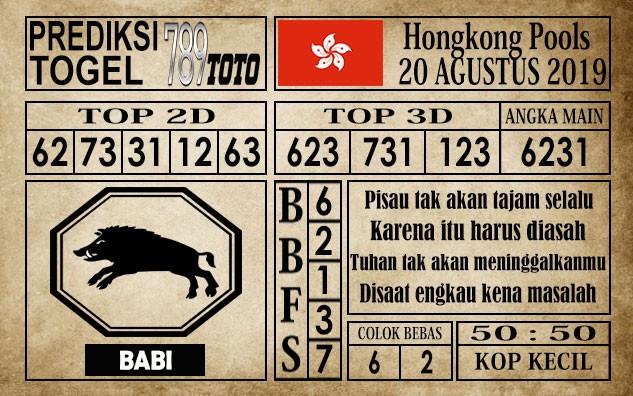 Prediksi Hongkong Pools 20 Agustus 2019