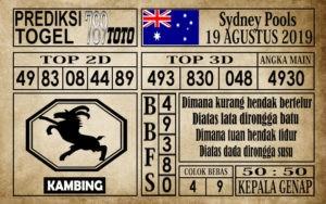 Prediksi Sydney Pools 19 Agustus 2019