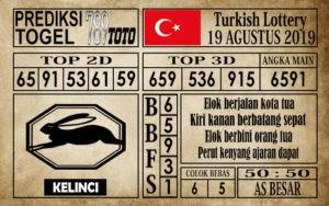Prediksi Turkish Lottery 19 Agustus 2019