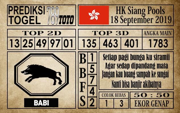Prediksi Hongkong Siang 18 September 2019