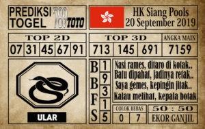 Prediksi Hongkong Siang 20 September 2019