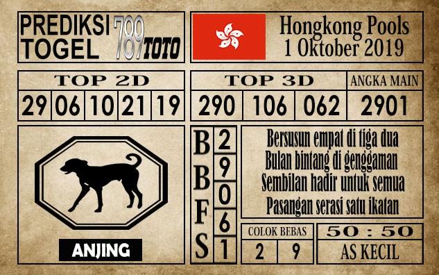 Prediksi Hongkong Pools 01 Oktober 2019