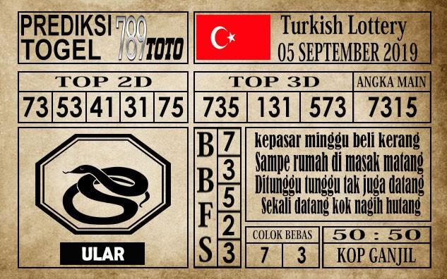 Prediksi Turkish Lottery 05 September 2019