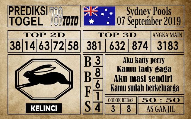 Prediksi Sydney Pools 07 September 2019