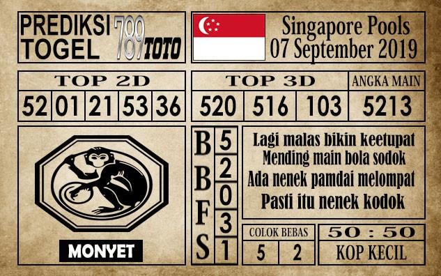 Prediksi Singapore Pools 07 September 2019