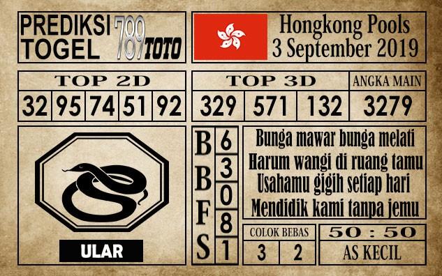 Prediksi Hongkong Pools 3 September 2019