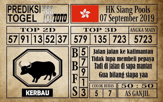 Prediksi Hongkong Siang 07 September 2019