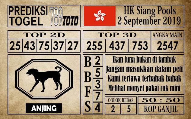 Prediksi Hongkong Siang 2 September 2019