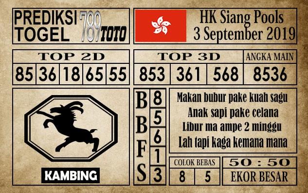 Prediksi Hongkong Siang 3 September 2019