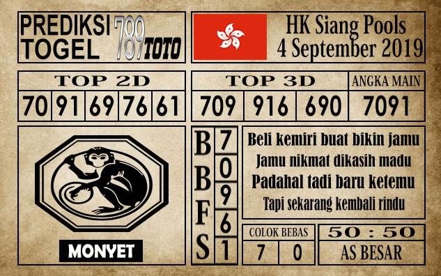 Prediksi Hongkong Siang 4 September 2019