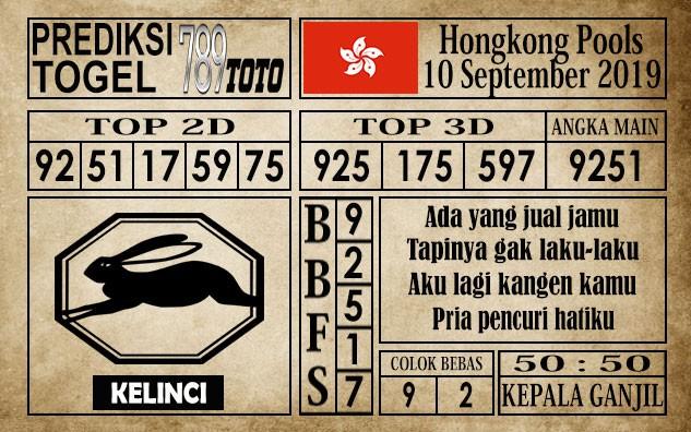 Prediksi Hongkong Pools 10 September 2019