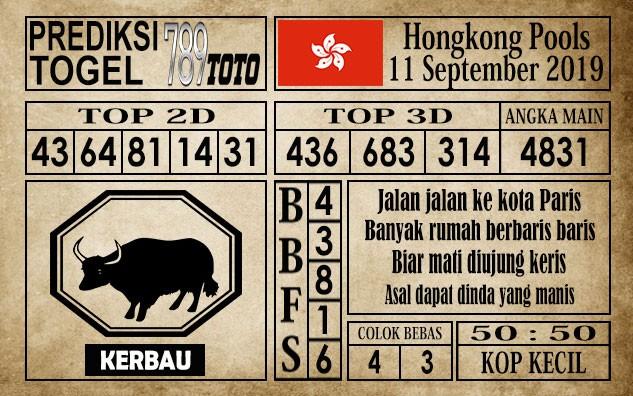 Prediksi Hongkong Pools 11 September 2019