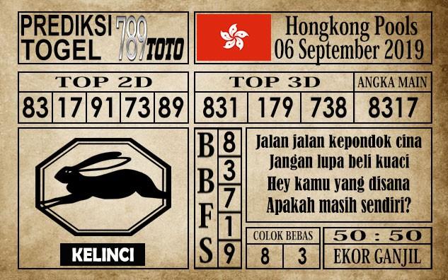 Prediksi Hongkong Pools 6 September 2019