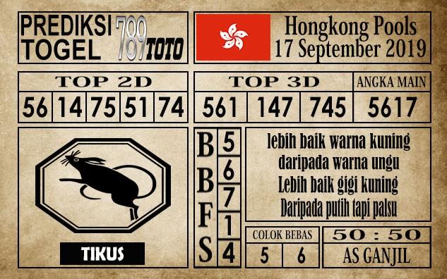 Prediksi Hongkong Pools 17 September 2019