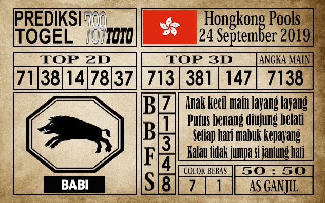 Prediksi Hongkong Pools 24 September 2019