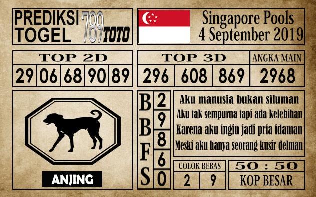 Prediksi Singapore Pools 4 September 2019