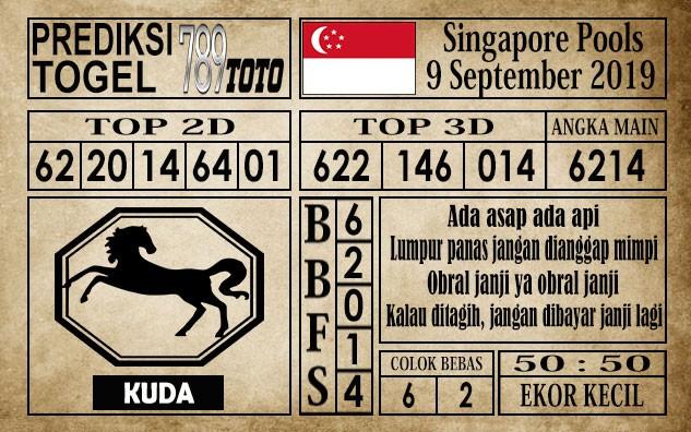 Prediksi Singapore Pools 09 September 2019