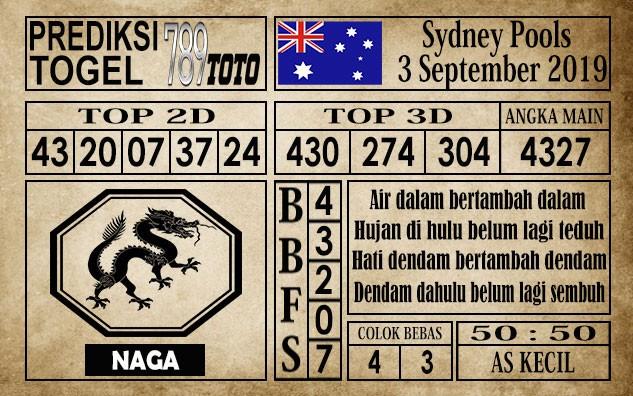 Prediksi Sydney Pools 3 September 2019