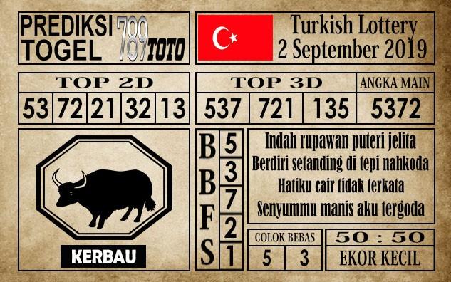 Prediksi Turkish Lottery 2 September 2019