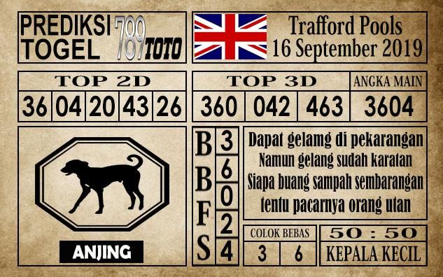 Prediksi Trafford Pools 16 September 2019