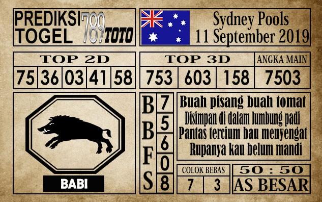 Prediksi Sydney Pools 11 September 2019