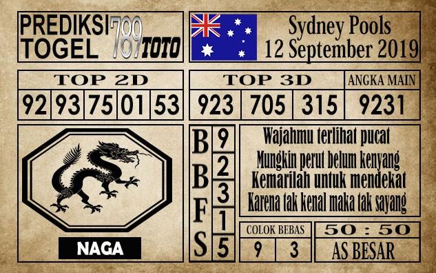 Prediksi Sydney Pools 12 September 2019