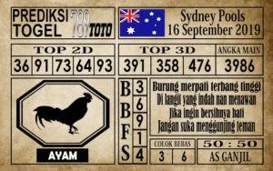 Prediksi Sydney Pools 16 September 2019
