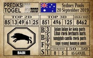 Prediksi Sydney Pools 20 September 2019
