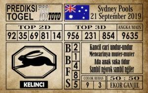 Prediksi Sydney Pools 21 September 2019